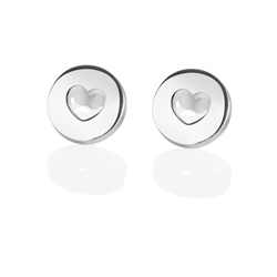 Newbridge Silverware Amour Earrings with Hearts