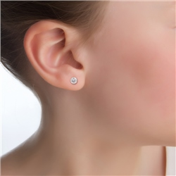 Newbridge Silverware Childrens Clear Stone Stud Earrings