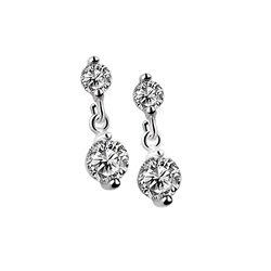 Drop Earrings Clear Stone by Newbridge Silverware