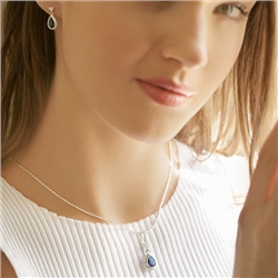 Newbridge Silverware Earrings Blue Stone