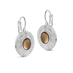Newbridge Silverware Earrings Champagne Colour Stone