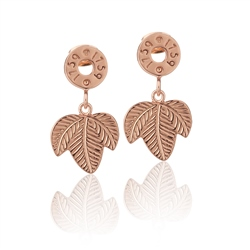 Rose GP Leaf Earrings by Newbridge Silverware