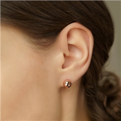Rose Gold Plated Stud Earring 8 mm