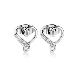 Silver Plated Heart Earrings by Newbridge Silverware