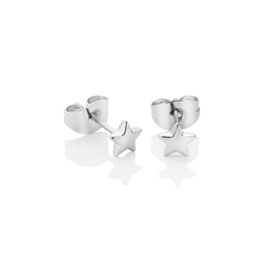 Silver Plated Star Stud Earrings