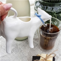 Whiteware Cow Milk Jug 140ml
