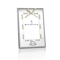 Baby Frame White Ribbon 4x6