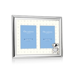 Newbridge Silverware New Baby Double Frame 3x4