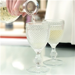Newbridge Silverware 4 Piece Clear Glass Goblet Set