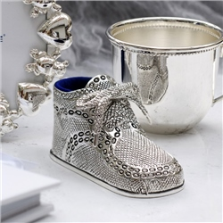 Newbridge Silverware Silverplate Baby Bootie