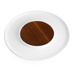 Newbridge Silverware Ceramic Plate with Wooden inner