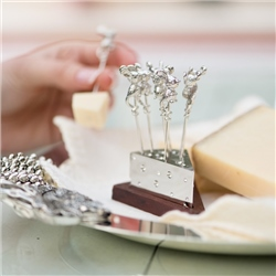 Mice Cheese Picks on Stand