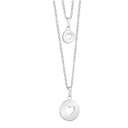 Newbridge Silverware Amour Double Pendant