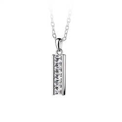 Newbridge Silverware Bar Pendant Clear