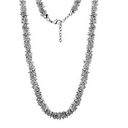 Newbridge Silverware Beaded Heart Necklace