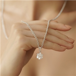 Newbridge Silverware Floral Cup Pendant Clear