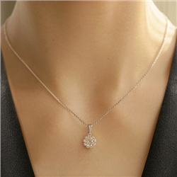 Newbridge Silverware Flower Pendant Clear Stones