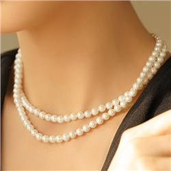 Newbridge Silverware Pearl Double Strand Necklace