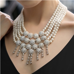 Newbridge Silverware Pearl Statement Necklace
