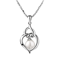 Pearl Heart Pendant by Newbridge Silverware