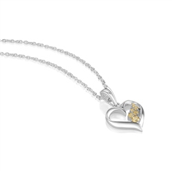 Newbridge Silverware Birthstone Heart Pendant