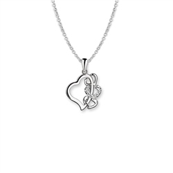 Newbridge Silverware Multi Heart Pendant Clear