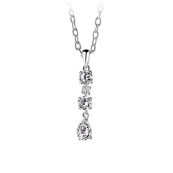 Newbridge Silverware Multidrop Pendant Clear