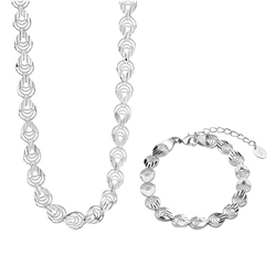 Tear Drop Necklace and Bracelet Set by Newbridge Silverware