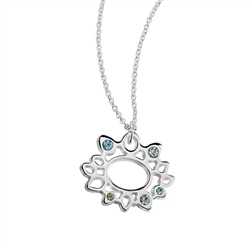 Newbridge Silverware Pendant Coloured Stones