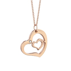Newbridge Silverware Rose Goldplate Amour Pendant