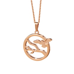 Newbridge Silverware Rose Goldplate Ariel Pendant