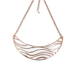Newbridge Silverware Rose Gold Plated Orca Neckpiece