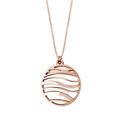 Rose Gold Plated Orca Pendant by Newbridge Silverware