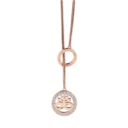 Rose Goldplate Pendant Lotus Flower