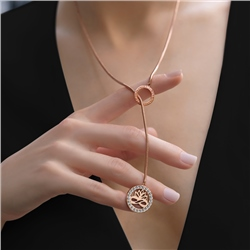 Rose Gold Plated Pendant Lotus Flower
