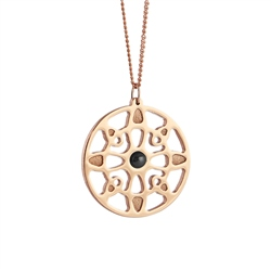 Newbridge Silverware Rose Goldplate Wish Pendant