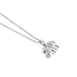 Silver Plated Pendant with Elephant
