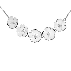 Newbridge Silverware Waterlily Necklace