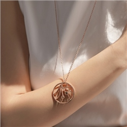 Newbridge Silverware Wish Rose Goldplate Pendant