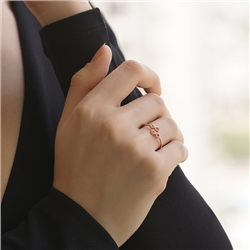 Newbridge Silverware Rose Gold Plated Infinity Ring