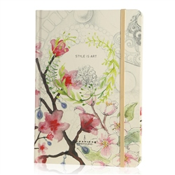 Newbridge Silverware Style is Art Floral Hardback Notebook