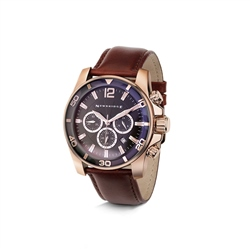 Mens Watch Round Face 3 Dials