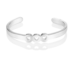 Newbridge Silverware Amour Bangle 3 Hearts
