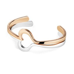 Newbridge Silverware Amour Double Bangle