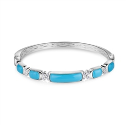 Newbridge Silverware Bangle with Turquoise Stone