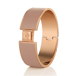 Champagne Plate Bangle Nude