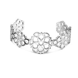 Newbridge Silverware Floral Bangle