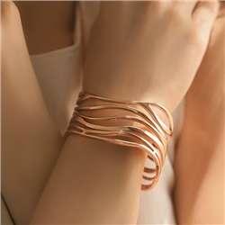 Newbridge Silverware Large Rose Gold Plated Orca Bangle