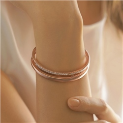 Newbridge Silverware Rose Gold Plated CZ Bangle