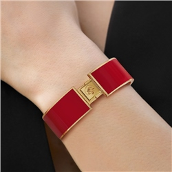 Gold Plated Bangle Red